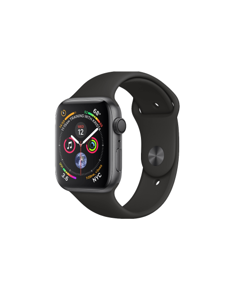 Refurbished Apple Watch Series 4 40mm GPS+Cellular Aluminum Case Spacegrijs met zwart sportbandje