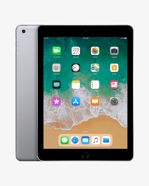 Refurbished iPad 2018 128GB WiFi + 4G zwart